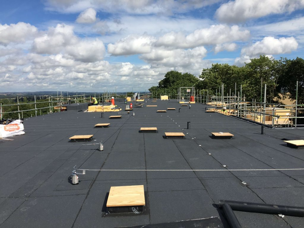 new build felt roof including 150mm insulation